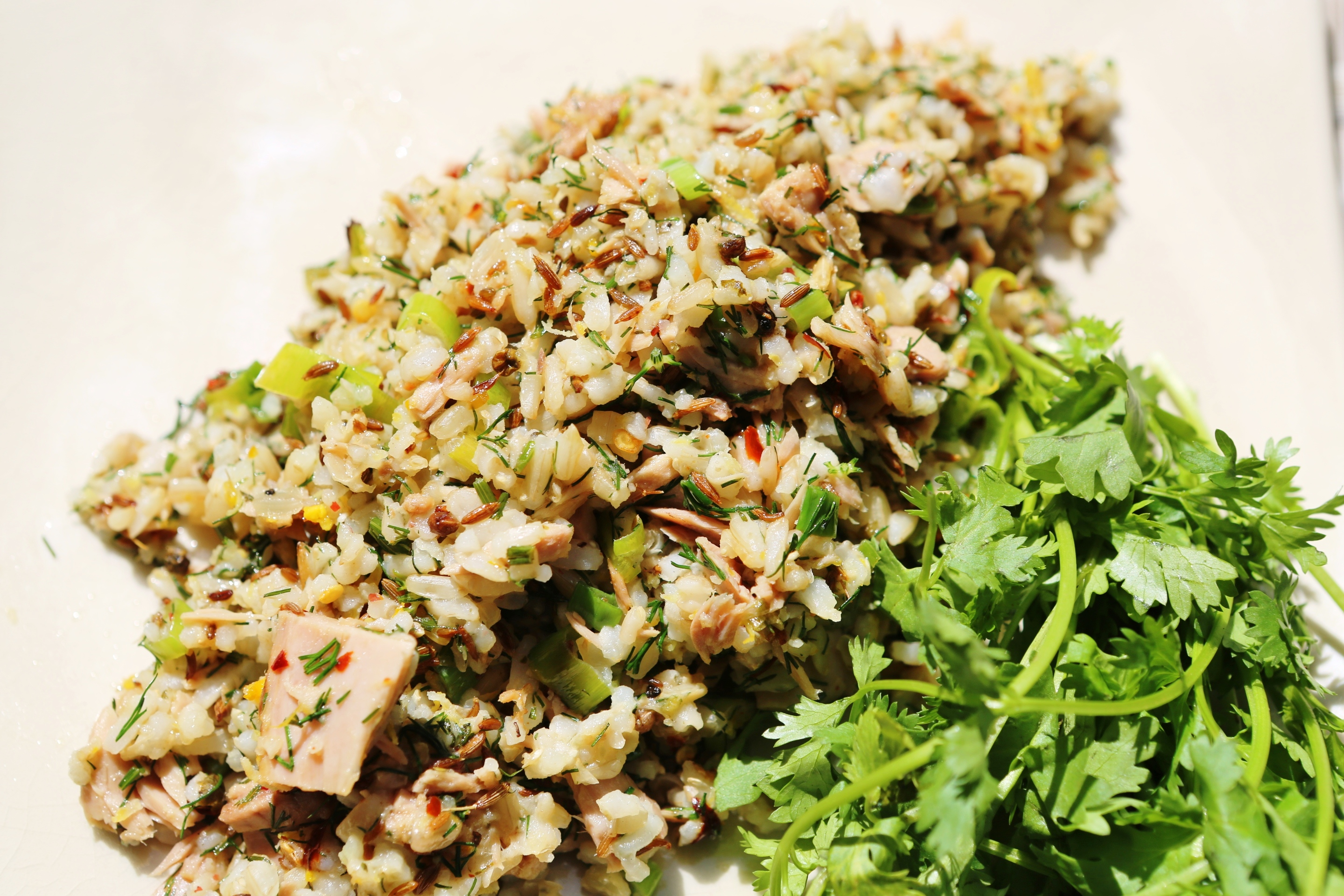 Nutty Brown Rice and Herbed Tuna Salad